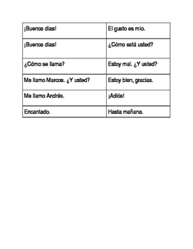 Basic Conversation Practice in Spanish