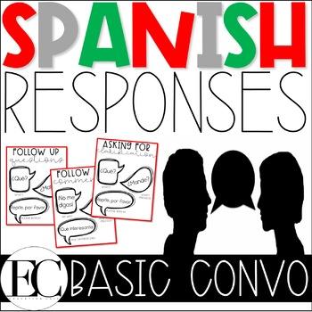 Basic Conversation Responses: Spanish
