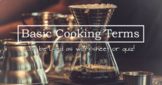 Basic Cooking Terms