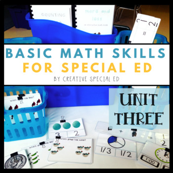 Basic Daily Math Curriculum for Special Education Unit Three