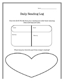 Basic Daily Reading Log