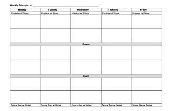 Basic Day Plan Template