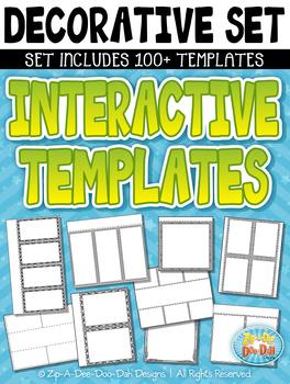 Basic Decorative Flippable Interactive Templates S2 {Zip-A-Dee-Doo-Dah Designs}