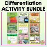 Calculus Differentiation Activities  (Units 2 -3)