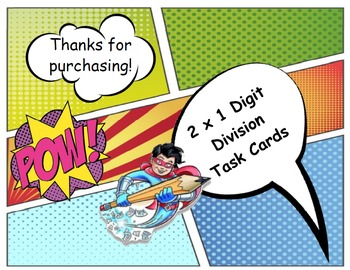 Basic Division Comic Task Cards