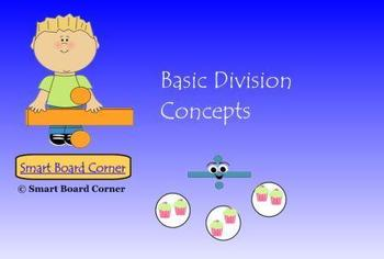 Basic Division Concepts Smart Board Lesson