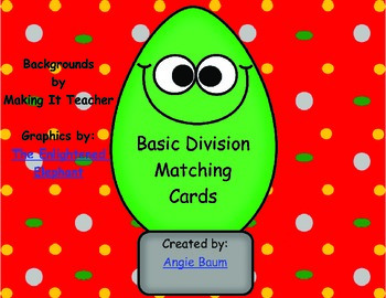 Basic Division Matching Christmas Theme
