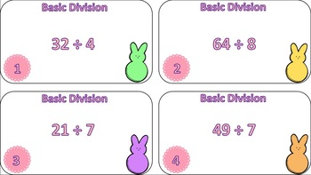 Basic Division Task Cards {Easter Themed}