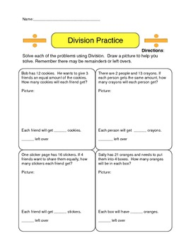 Basic Division Word Problems