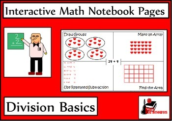 Basic Division Lesson for Interactive Math Notebooks