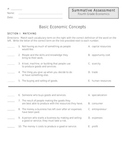 Basic Economic Concepts Assessment