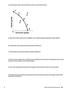 Basic Economic Concepts Unit 1 Problem Sets Handouts