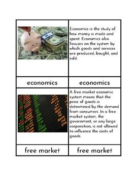 Basic Economics - Three/Four Part Cards