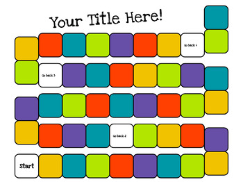 Editable Board Game Templates Worksheets Teachers Pay