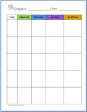 """Basic Editable Unit Planner Page ~ """"Give A Hoot"""" Owl"""