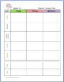 """Basic Editable Weekly Lesson Planner Page ~ """"Give a Hoot"""" Owl"""