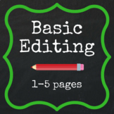 Basic Editing - 1-5 pages