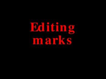 Basic Editing Marks