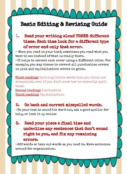 Basic Editing and Revising Guide