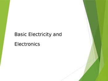 Basic Electricity and Electronics Presentation for STEM