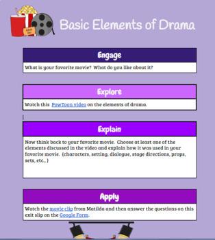 Basic Elements of Drama/Theater Hyperdoc