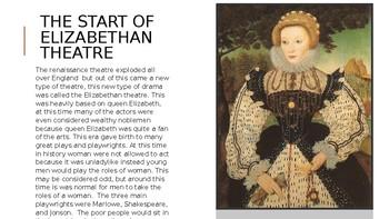 Basic Elizabethan Theatre