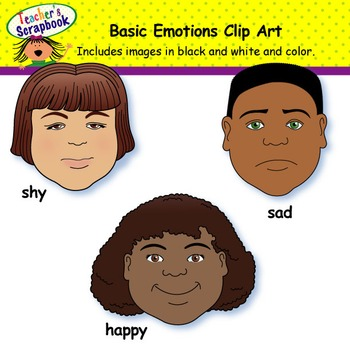 Basic Emotions Clip Art