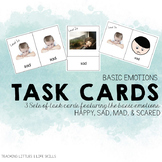 Basic Emotions Task Cards- REAL PHOTOS