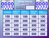 Basic Energy Review Jeopardy Game