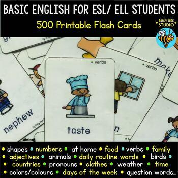 ESL Vocabulary Flash Cards