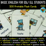 ESL Vocabulary Flash Cards and Posters