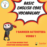 Basic English Core Vocabulary Barrier Activity: Verbs 1