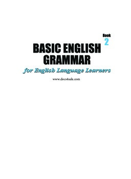 Basic English Grammar Workbook #2 (153 pages)