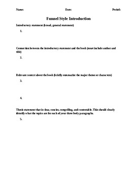 Basic Essay Outline