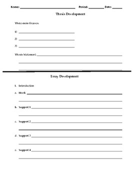Basic Essay Outline and Thesis Generator