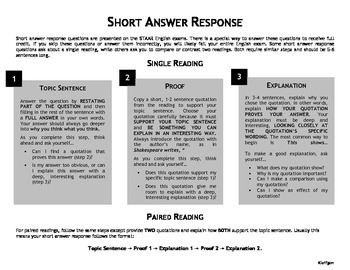 Basic Essay, Short Answer Response, and Literary Terms Student Resources