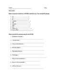 Basic Estar Practice Worksheet