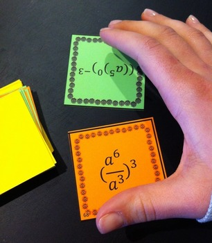 Basic Exponent Rules - War Game (one variable)