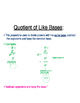 Basic Exponential Properties; Square & Cube Roots