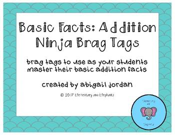 Basic Fact Addition Brag Tags