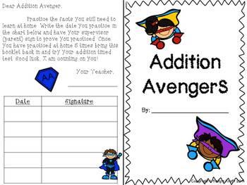 Basic Fact Booklet: Addition Avengers