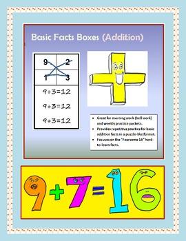 Basic Fact Boxes: Addition