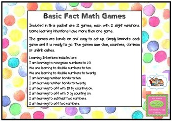 Basic Fact Math Games