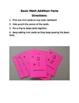 Basic Fact Mini Cards