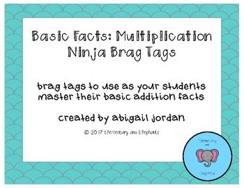Basic Fact Multiplication Brag Tags