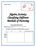 Basic Factoring Classifying Activity