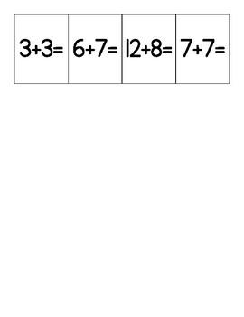 Basic Facts Addition Bingo Game