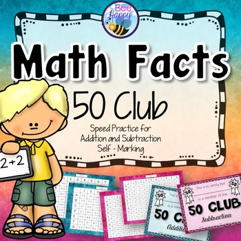 Math Facts Cards - Addition & Subtraction.