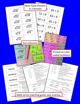 Basic Facts Division Flashcards