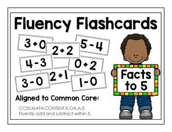 Basic Facts Fluency Flashcards